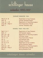 1950-1951 : Schillinger House - Calendar