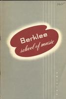 1955-1956 : Berklee School of Music - Catalog