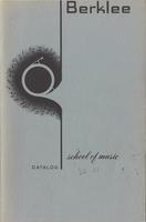 1966-1967 : Berklee School of Music - Catalog