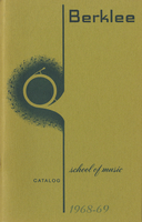 1968-1969 : Berklee School of Music - Catalog