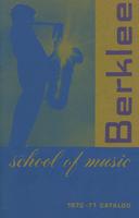 1970-1971 : Berklee School of Music - Catalog