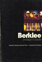 1973-1974 : Berklee College of Music - Catalog