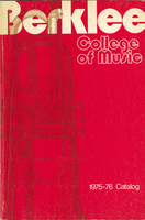 1975-1976 : Berklee College of Music - Catalog