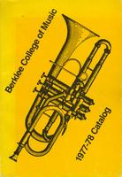 1977-1978 : Berklee College of Music - Catalog